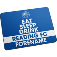 Personalised Reading FC Eat Sleep Drink Mouse Mat