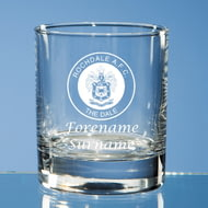 Personalised Rochdale AFC Crest Whisky Glass