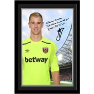 Personalised West Ham United FC Hart Autograph Photo Framed