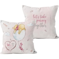 Personalised Winnie The Pooh & Piglet Lets Take A Journey Cushion - 45x45cm