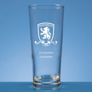 Personalised Middlesbrough FC Crest Beer Pint Glass