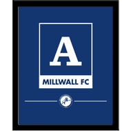 Personalised Millwall Monogram 290x360 Framed Print