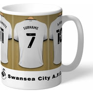 Personalised Swansea City AFC Dressing Room Shirts Mug
