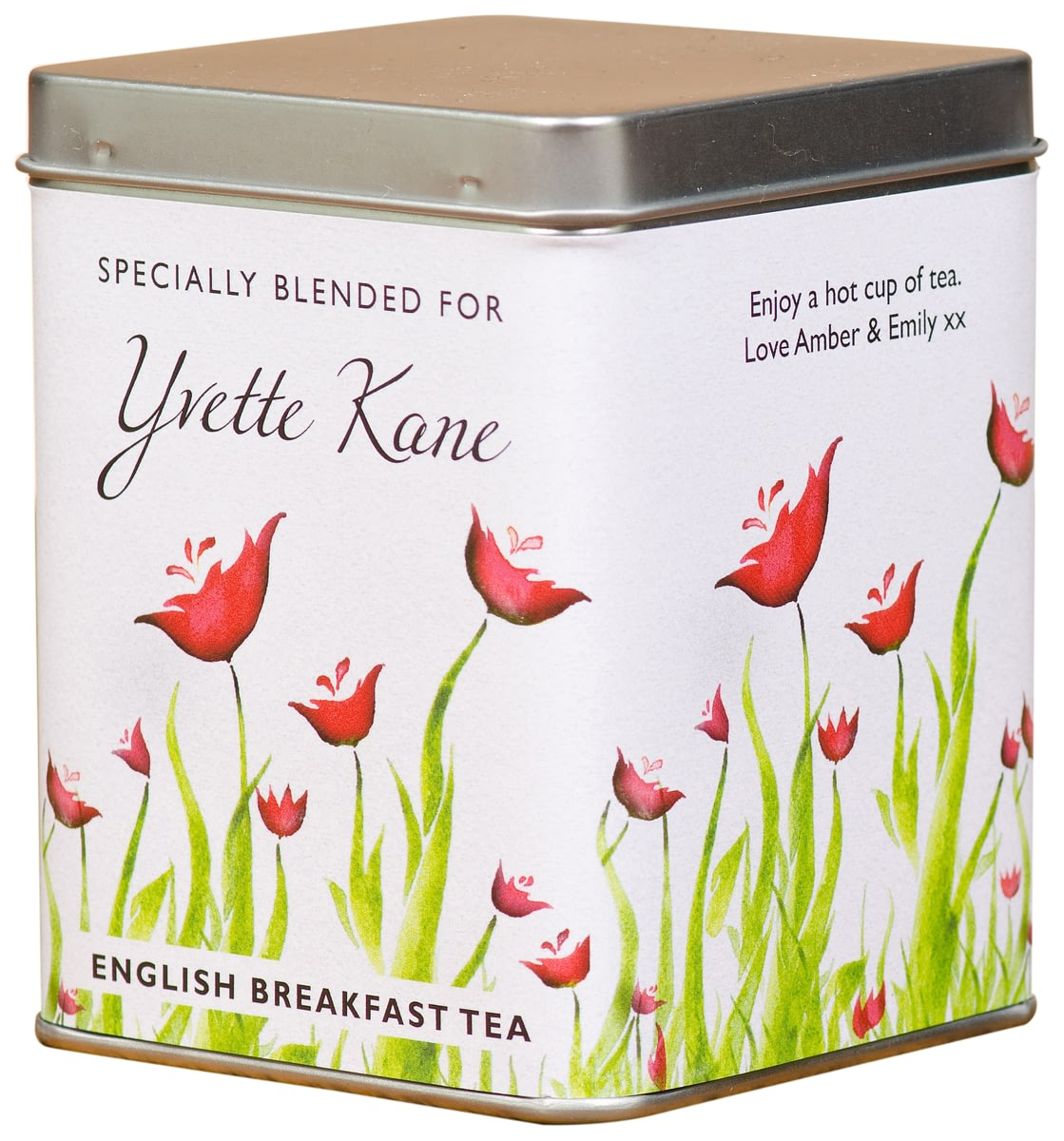 Buy Your Personalised Poppy Flower Design Tea Bag Tin From Go Find