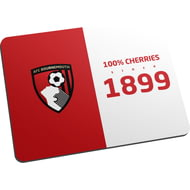 Personalised AFC Bournemouth 100 Percent Mouse Mat