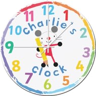 Personalised Arty Mouse Glass Clock