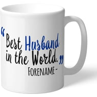 Personalised Brighton & Hove Albion FC Best Husband In The World Mug