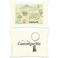 Personalised Winnie The Pooh Map Cushion - 45x45cm