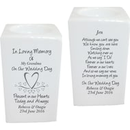 Personalised Hearts Memorial Tea Light Holder