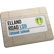 Personalised Leeds United FC Street Sign Mouse Mat