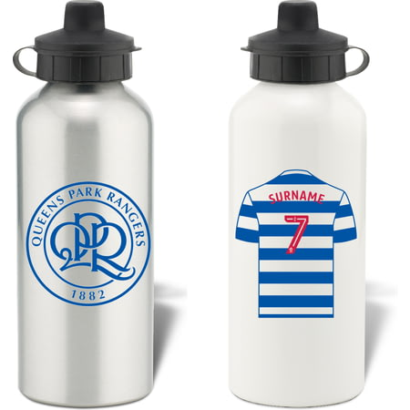 Personalised Queens Park Rangers FC Shirt Aluminium Sports Water Bottle