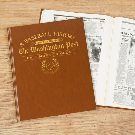 Personalised Baltimore Orioles Baseball Newspaper Book