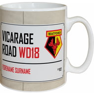 Personalised Watford FC Street Sign Mug