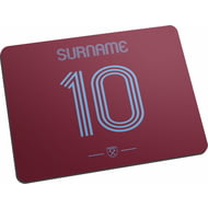 Personalised West Ham United FC Retro Shirt Mouse Mat