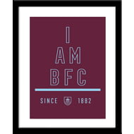 Personalised Burnley I Am Framed Print