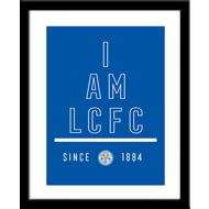 Personalised Leicester City I Am Framed Print