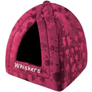 Personalised Maroon Pyramid Pet Bed
