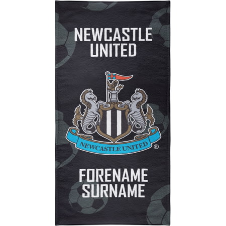Personalised Newcastle United FC Crest Bath Towel - 70cm X 140cm