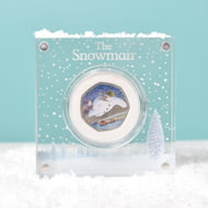 Personalised Silver Proof Snowman 50p In Deluxe Gift Box