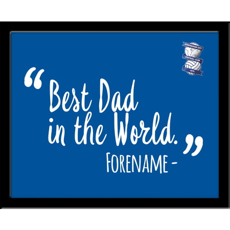 Personalised Birmingham City Best Dad In The World 10x8 Photo Framed