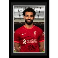 Personalised Liverpool FC Salah Autograph Photo Framed
