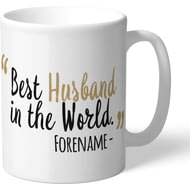 Personalised Newcastle United Best Husband In The World Mug