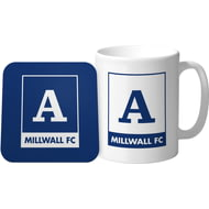 Personalised Millwall Monogram Mug & Coaster Set