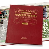 Personalised Wigan Athletic Football Newspaper Book