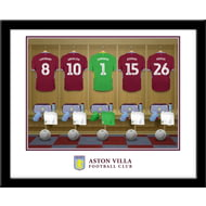 Personalised Aston Villa FC Goalkeeper Dressing Room Shirts Framed Print