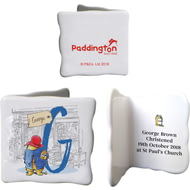Personalised Paddington Bear Initial Ceramic Message Card