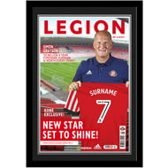 Personalised Sunderland AFC Magazine Front Cover Photo Framed