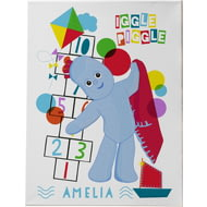 Personalised Iggle Piggle Hopscotch Canvas Print
