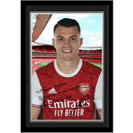 Personalised Arsenal FC Xhaka Autograph Photo Framed