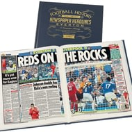 Personalised Everton Football Newspaper Book - Leather Cover