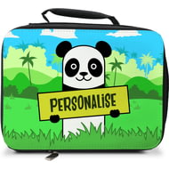 Personalised Kids Panda Insulated Lunch Bag