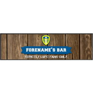 Personalised Leeds United FC Wood Name Large Bar Runner