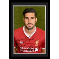 Personalised Liverpool FC Can Autograph Photo Framed