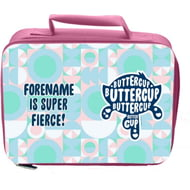 Personalised Powerpuff Girls Buttercup Silhouette Insulated Lunch Bag - Pink