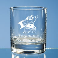 Personalised Scunthorpe United FC Crest Whisky Glass