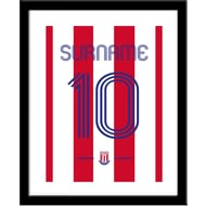 Personalised Stoke City Retro Shirt Framed Print