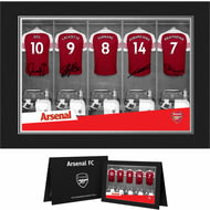 Personalised Arsenal FC 9x6 Dressing Room Shirts Photo Folder