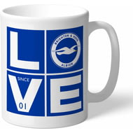 Personalised Brighton & Hove Albion FC Love Mug