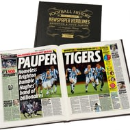 Personalised Brighton and Hove Albion Football Newspaper Book - Leather Cover