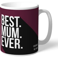 Personalised Burnley FC Best Mum Ever Mug