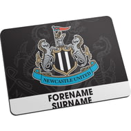 Personalised Newcastle United FC Bold Crest Mouse Mat