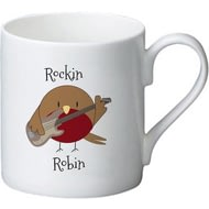 Personalised Rockin' Robin Ceramic Mug