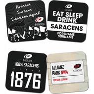 Personalised Saracens Coasters