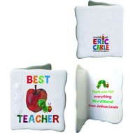 Personalised Very Hungry Caterpillar Best Teacher Ceramic Message Card