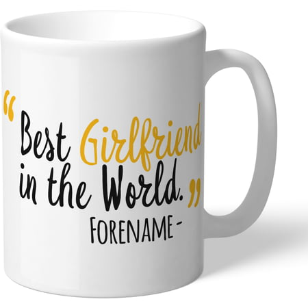 Personalised Wolves FC Best Girlfriend In The World Mug