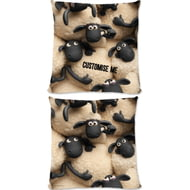 Personalised Shaun The Sheep Group Print Cushion - 45x45cm